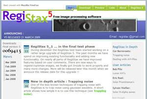 RegiStax V5 Software